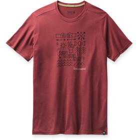 Smartwool Merino Sport 150 Skjorte Park Vibes-grafik Herrer, rød